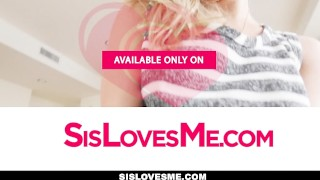 SisLovesMe- Clumsy Sis Fucks Her Way Out Of Trouble  teasing is big-cock step-brother cock-sucking oral pov young hardcore natural-tits brunette petite step-sister shaved sislovesme small-tits