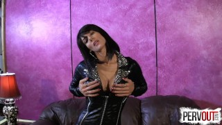 Beat it Raw for Arena Rome  edging pantyhose kink joi jerk-off-instruction sweetfemdom femdom joi arena rome orgasm-denial big-boobs shiny pantyhose