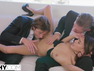 Preview 4 of TUSHY Janice Griffith's double penetration fantasy