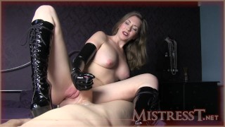 Mistress T bottss latex  kink mother old mom