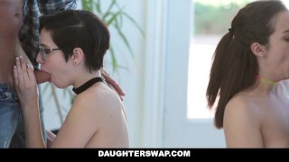 DaughterSwap - Naive Teenagers Tricked Into Fucking Their Dads Cock and