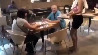 restaurant sex Ass public