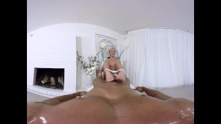 Hot on the massage couch anal vr fuck