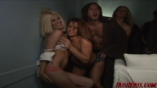 Frat with angelene fuck fest marie house continues 3some fuck