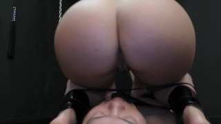 Mistress Kristina Rose Facesitting & Ass Worship Femdom  ass worship big ass natural bdsm facesitting femdom meanbitches small tits kink domme butt mistress latin kristina rose kiss her ass ass licking face grinding orgasm lick her asshole