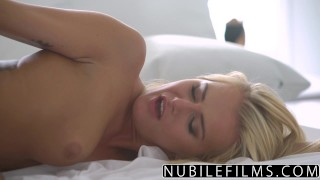 NubileFilms - All She Wants Is Cock And Cum  riding babe aisha nubilefilms blonde blowjob cumshot sensual hardcore love-making smalltits petite shaved romantic orgasm doggystyle