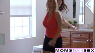 MILF Alexis Fawn Squirts Hard For Step-Son & GF  big ass riding big-tits creampie step-son threeway blonde momsteachsex fake-tits reverse-cowgirl brunette babes deepthroat threesome step-mom bigcock doggystyle