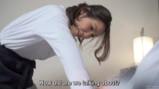 Subtitled Japanese hotel massage leads to blowjob in HD Mom oriental
