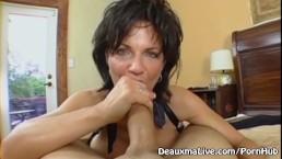 Mature Milf Deauxma Rides Her Boy Toys Big Cock!