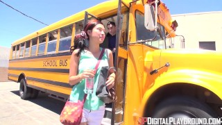 Digital Playground- School Bus Driver Comforts Sad Student With His Dick  riding dp teen cock-sucking small skinny schoolgirl pounded young digitalplayground school high-socks socks big-dick teenager rawcuts shool-bus