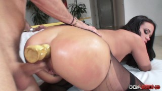 In hard fucked ass her with in pussy dildo roxy nipples doggystyle