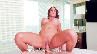 PURE MATURE Busty milf Sabrina Cyns shows her experienced fucking skills  hd old sexy mom busty hardcore curvy sex porn mother facial sabrinacyns puremature shaved pussy hot milf busty milf