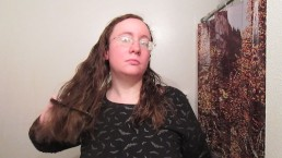 Hair Journal: Combing Long Curly Strawberry Blonde Hair - Week 14 (ASMR)
