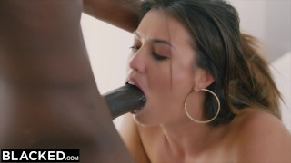 BLACKED She'll Do Whatever It Takes  brunette cowgirl blacked doggystyle facial doggy style sex bbc riding black blowjob