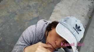 Public Blowjob And Facial For Kawaii_Girl
