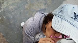 Blowjob kawaiigirl facial public and for young pov