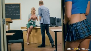 Brazzers - Lucky guy fucks class mate and teacher ass 3some young milf threeway big tits mom blonde cock sucking mother threesome school reverse cowgirl brunette brazzers big dick fake tits schoolgirl teenager