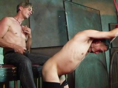 DILF gets tied up and teased by his fetish boyfriend