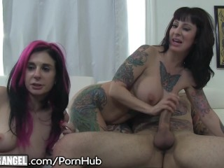 BurningAngel Live Big Titty MILF Webcam Threesome!