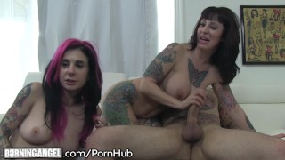 big titty milf threesome