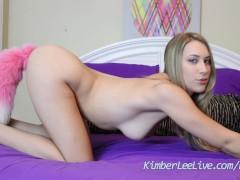 Kimber Lee Plays with New Anal Plug Tail!