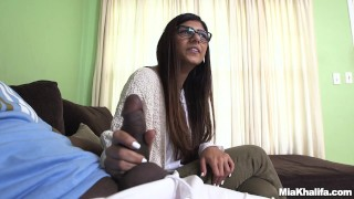 Mia Khalifa Tries A Big Black Dick (mk13775)  interracial butt monstersofcock arab big ass miakhalifa bangbros lebanese pornstar