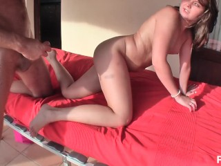European Teen Lorine Has An Amazing Ass & Likes To Fuck In The Balcony