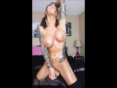 Oiled-up TEEN Karma Rx on Sybian Sex Machine--Big Orgasm