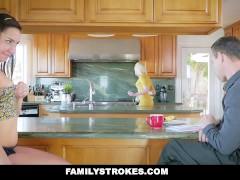 FamilyStrokes – Mom Caught Me Fucking Her Husband
