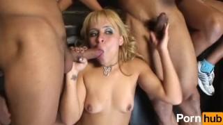 Horny Latinas Get Fucked by Many Cocks