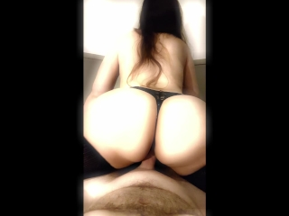 POV Sexy Slut Sucks Cock, Rides Cock, Fucks Doggy, and Gets Deep Creampie