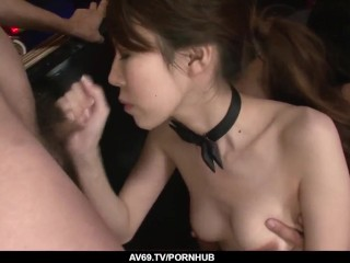 Jaw dropping Asian group porn with naked Rino Asuka