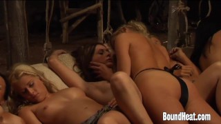 Enslaved Girls Penetrated By Mistresses Strapon  strapon slave euro femdom lezdom lesbian-strap-on kink lesbian enslaved boundheat girl-on-girl lesbian-strapon european mistress orgasm lesbian-sex