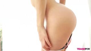 Blowjob pov brunette slut raven striptease