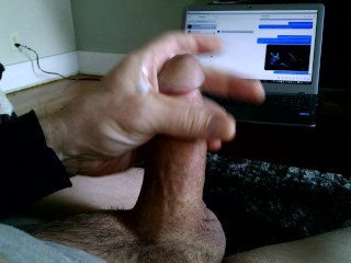 Stroking My Cock to Porn