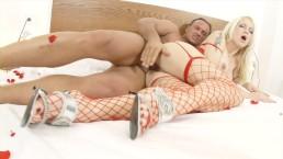 Amazing big tit platinum blonde gets her tight ass drilled