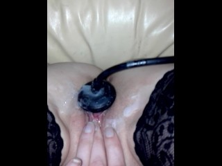 Hot wax on pussy
