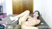 Finger-Fucking Myself on Cam and Wearing Tail Buttplug and Leash
