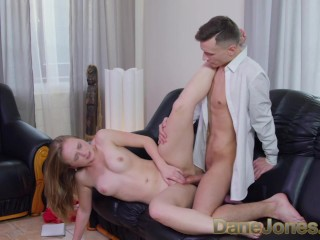 Dane Jones Sexy journo deepthroats pornstar rides cowgirl to moaning orgasm