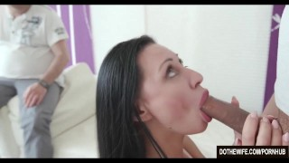 Brunette MILF fucks another man for her husband  milf hardcore brunette mother housewife cuckold couple wife dothewife eva ann mom blowjob