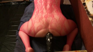 Red outfit and Rambon Anal riding