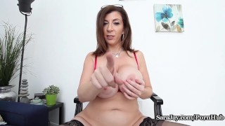 huge-tits sarajay fake-tits big-boobs mom mother masturbate joi huge-boobs solo solo-masturbation juggs teacher busty-teacher boobs thick curvy