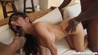bangbros pornstar miakhalifa big-tits mia-khalifa big black cock big-black-dick 3some hardcore brunette blowjob interracial arab glasses spitroast lebanese big-natural-tits