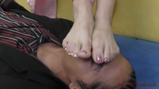 Nyomi Star Asian Foot Worship - Femdom  kiss-her-feet kink foot-worship domme feet mistress smell her feet lick-her-feet nyomi-star foot-fetish meanbitches asian