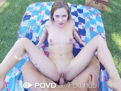 POVD Sexy backyard picnic fuck with Sydney Cole