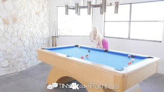 TINY4K Excited blonde Sierra Nicole gets fucked on a pool table