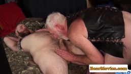 Polar bear breeding bald chubs tight ass