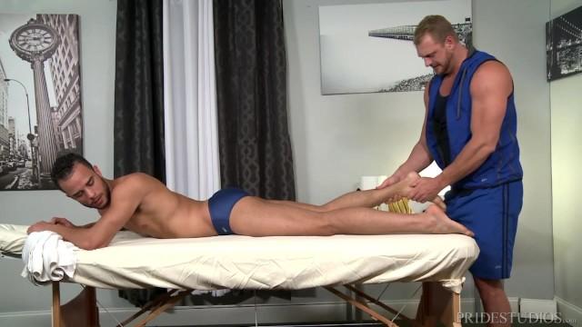 Gay 30 sex photos Menover30 speedo clad swimmer tops his masseur