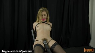 Lyra Chair Tied in Leather Armbinder
