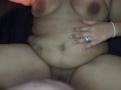 BLACK BBW TEEN FUCKED HARD BY CHUBBY WHITE GUY AND TAKES HUGE LOAD